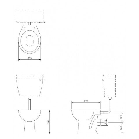 Standard Height Low Level WC Suite