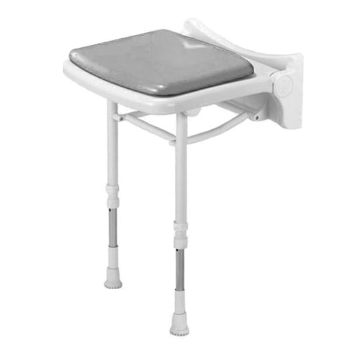 AKW Series 2000 Compact Fold Up Shower Seat in Grey or Blue
