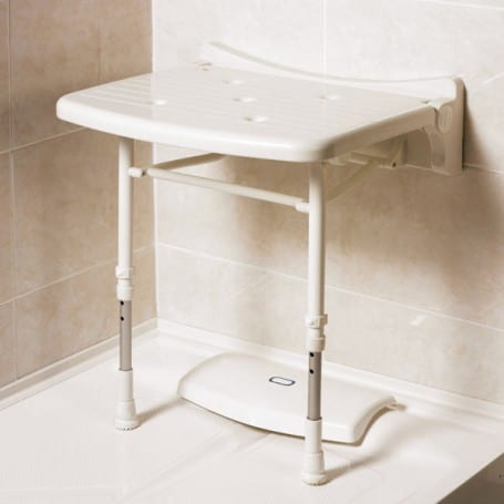 AKW Series 2000 Standard Fold-Up Shower Seat in Grey or Blue