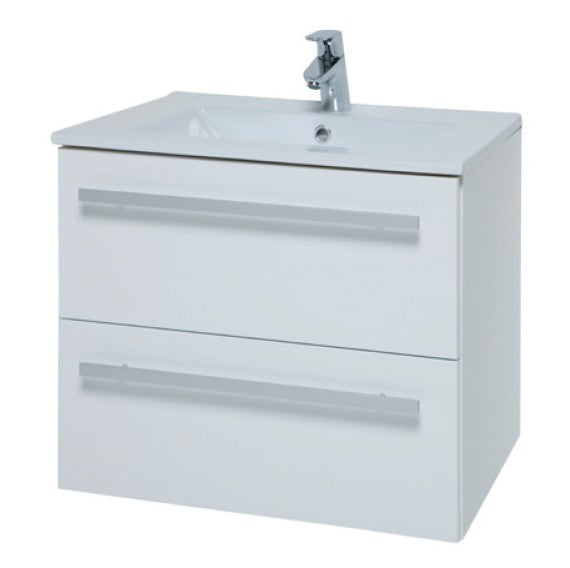 Purity Wall Mounted 2 Drawer Unit & Ceramic Basin