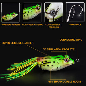 Bass Topwater Frog Lures - Suitable for all kinds of Fishing Waters (Buy 2 Get 1 Free)