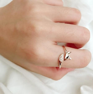 Crystal Fox Ring