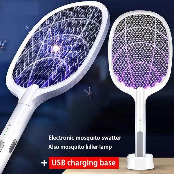 2-IN-1 ELECTRIC SWATTER & NIGHT MOSQUITO KILLING LAMP - Buy 2 Get 10% OFF