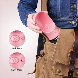Dog Travel Water Bottle - Happy Pets Planets
