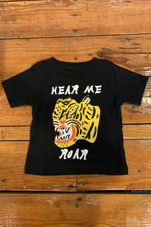 Hear Me Roar Tee | Black - West of Camden