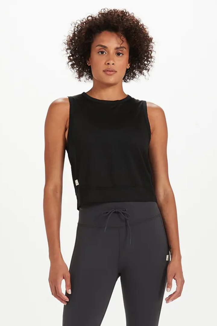 Lizette Crop | Black - West of Camden