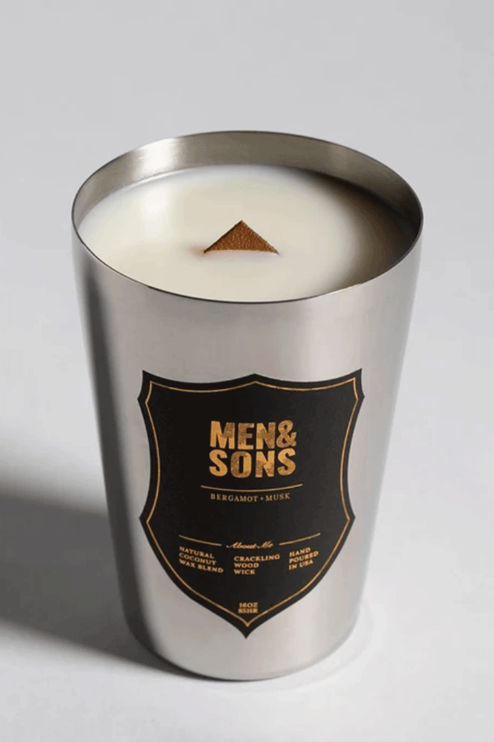 Bergamot + Musk Candle | Silver Tin - West of Camden