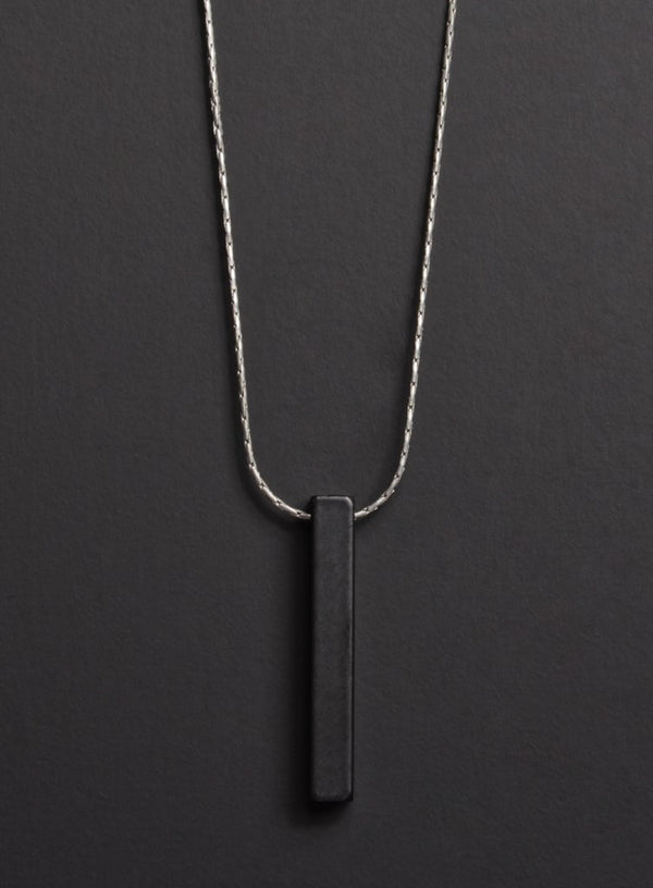 Black Bar Necklace - West of Camden