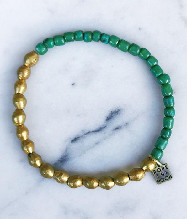Sure Thing Bracelet / Green - West of Camden