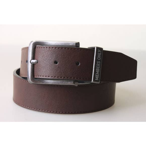 Marbled Leather Belt | Coffee - West of Camden