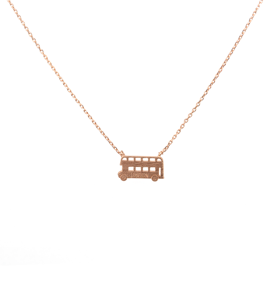 Dainty London Bus Necklace - West of Camden