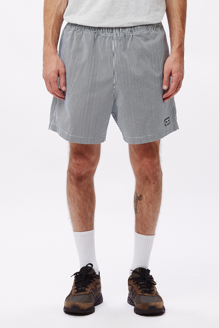Easy Relaxed Twill Short | Navy Multi - West of Camden