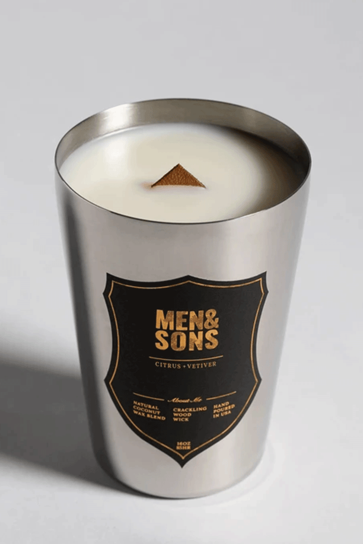 Citrus Vetiver Candle | Silver Tin - West of Camden