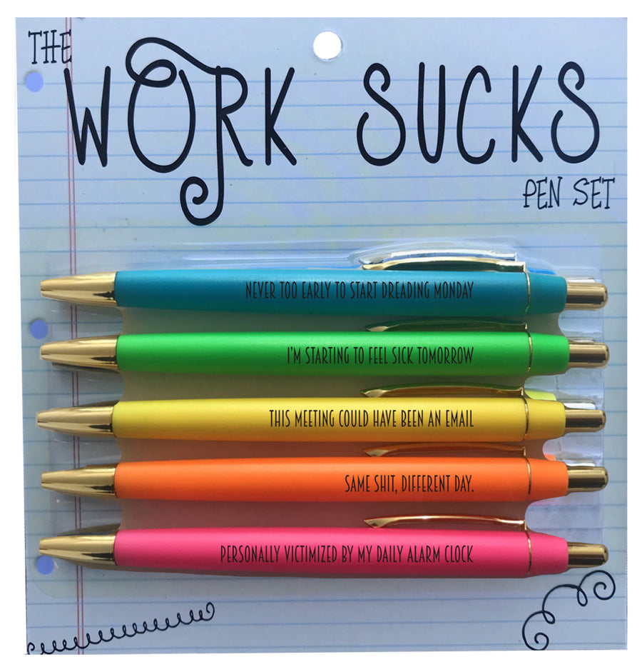 Work Sucks Pen Pack - West of Camden