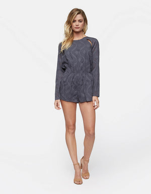 Amour LS Romper | Ombre - West of Camden