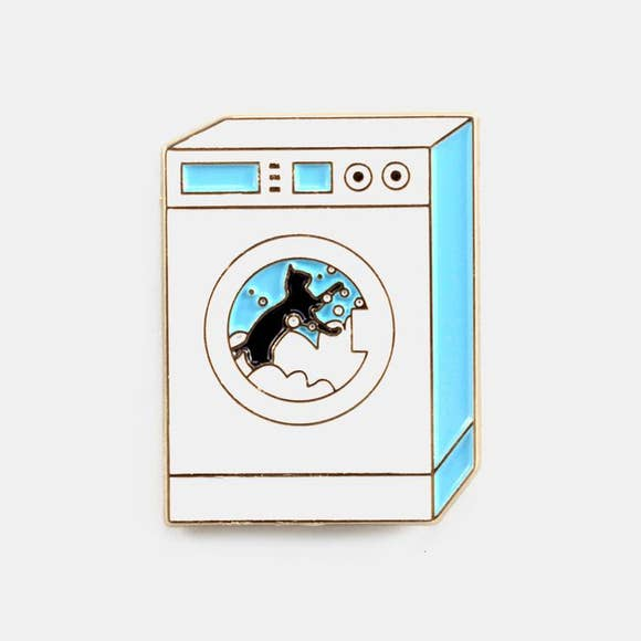 Cat Washing Machine Pin - West of Camden
