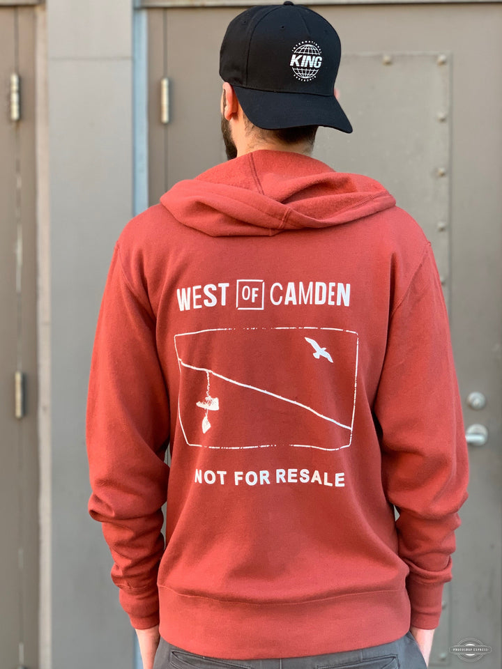 Not For Resale Zip Hood | Rust - West of Camden