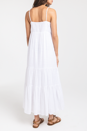 Sanur Solid Dress | White - West of Camden