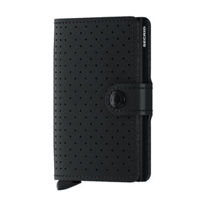 Miniwallet Perforated | Black - West of Camden