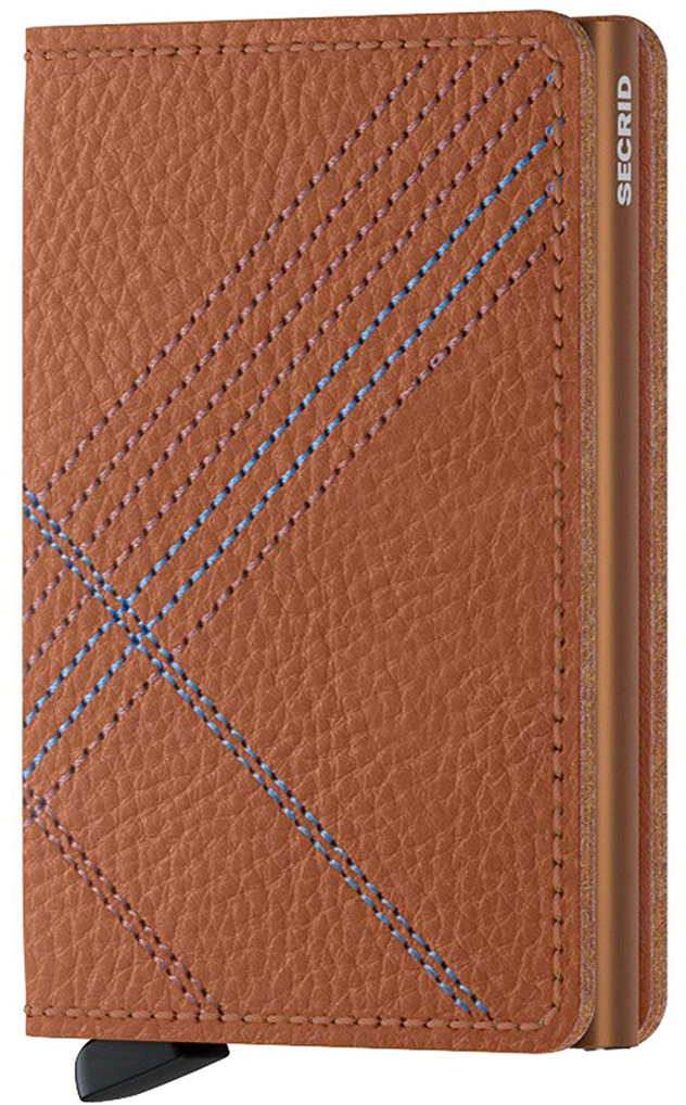 Slimwallet Stitch Linea | Caramello - West of Camden
