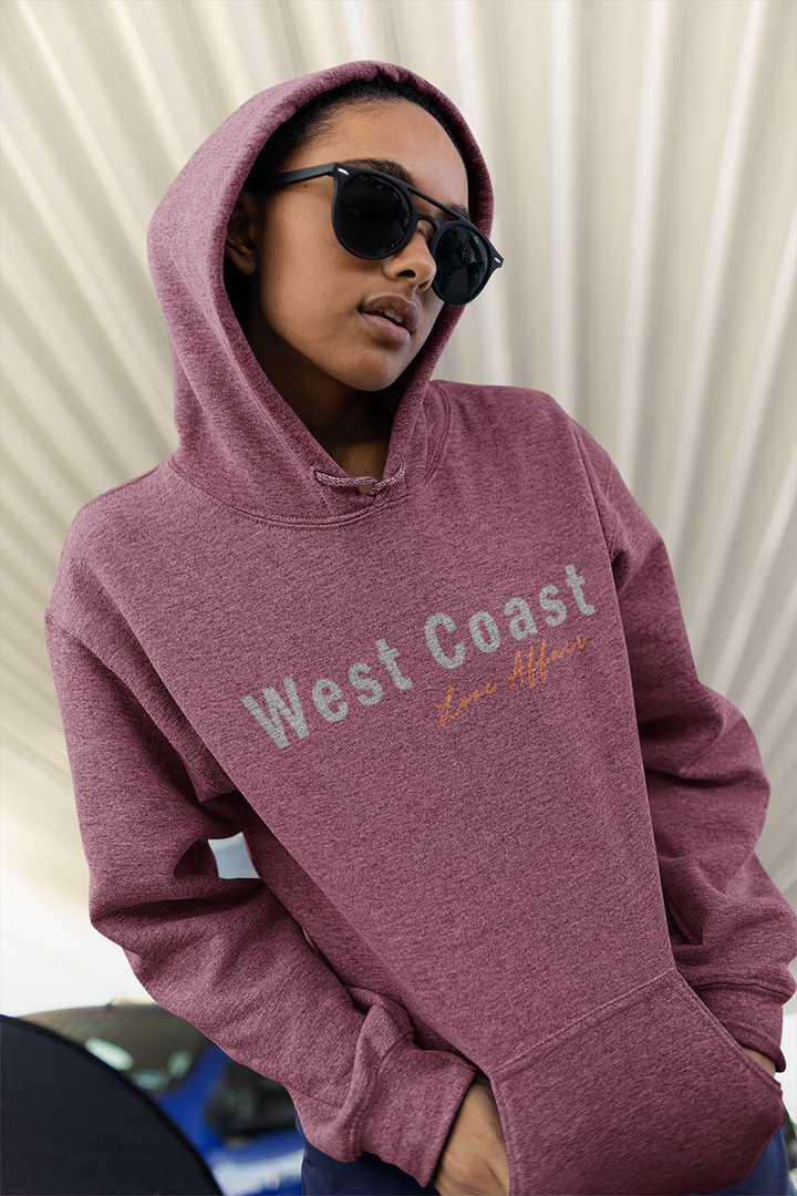 West Coast Affair Hoodie | Cranberry - West of Camden