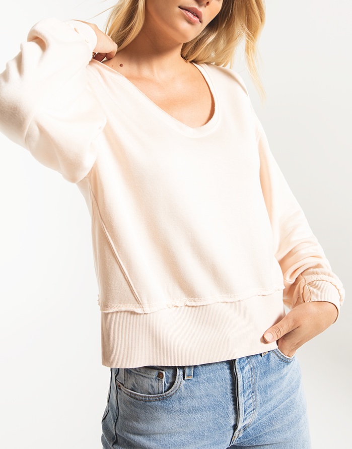 Deep V Pullover | Rosewater - West of Camden