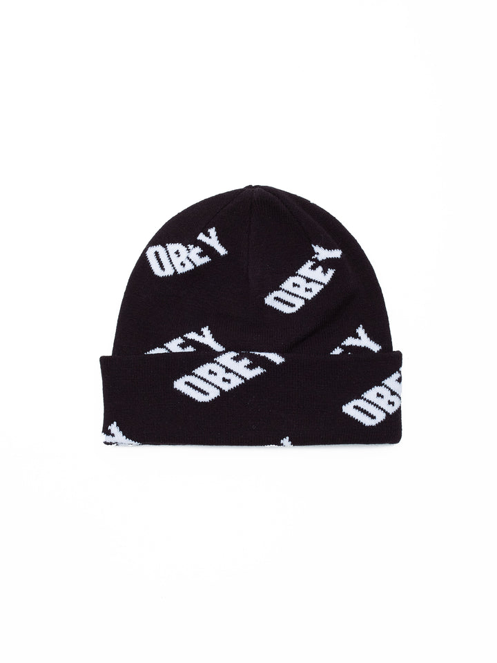 Wayward Beanie Black/White Multi - West of Camden