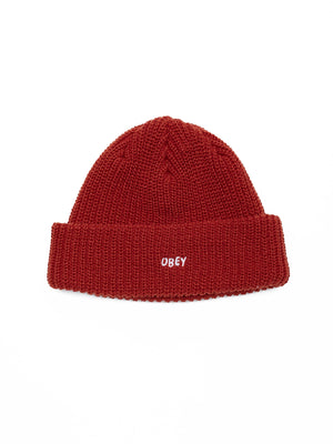 Jumbled Beanie / Brick Red - West of Camden