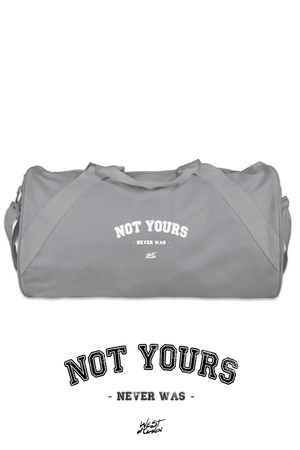 Not Yours Duffel Bag | Light Grey - West of Camden