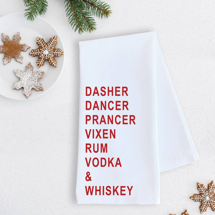 Rum Vodka & Whiskey | Tea Towel - West of Camden