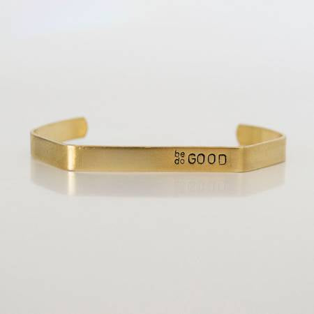 Be Good Do Good Brass Hex Cuff - West of Camden