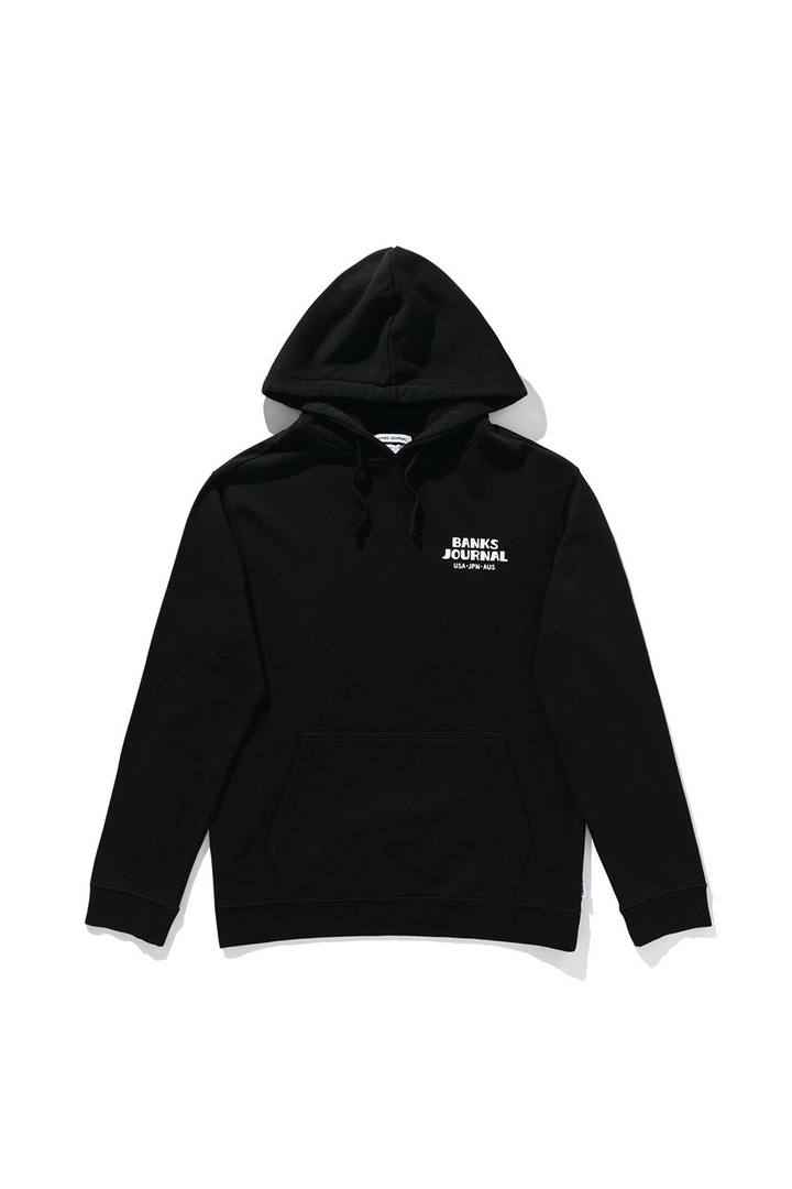 Everywhere Fleece Hood | Dirty Black