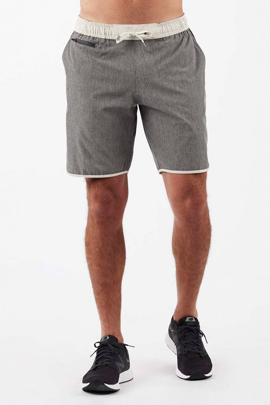 Banks Short | Grey Linen Texture