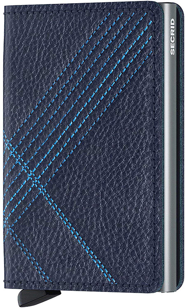 Slimwallet Stitch Linea | Navy - West of Camden