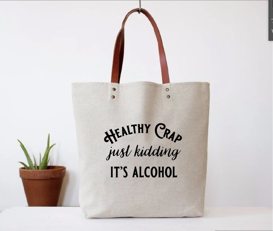 Healthy Crap Tote Bag - West of Camden