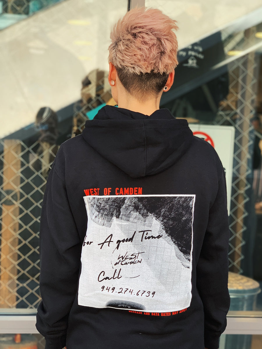For A Good Time Hoodie | Black - West of Camden