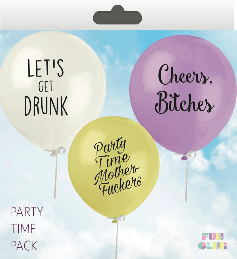 Party Time Balloon Pack - West of Camden