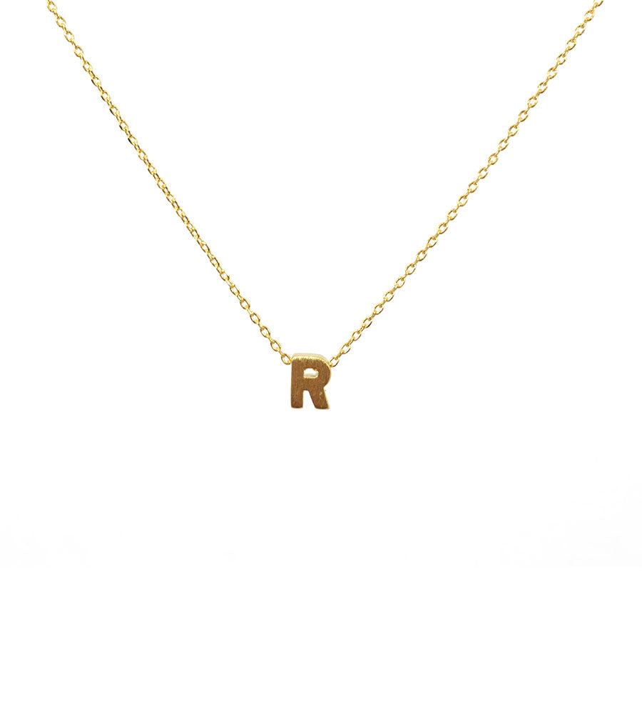 Initial Necklace Gold R - West of Camden
