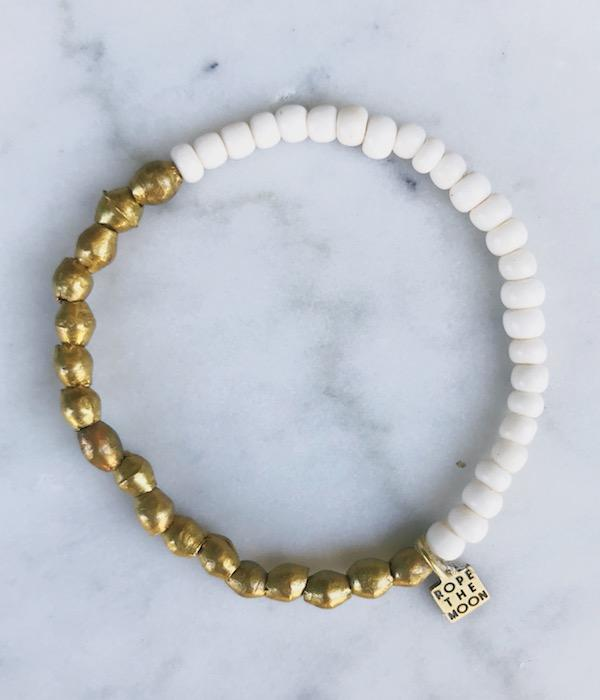 Sure Thing Bracelet / White - West of Camden