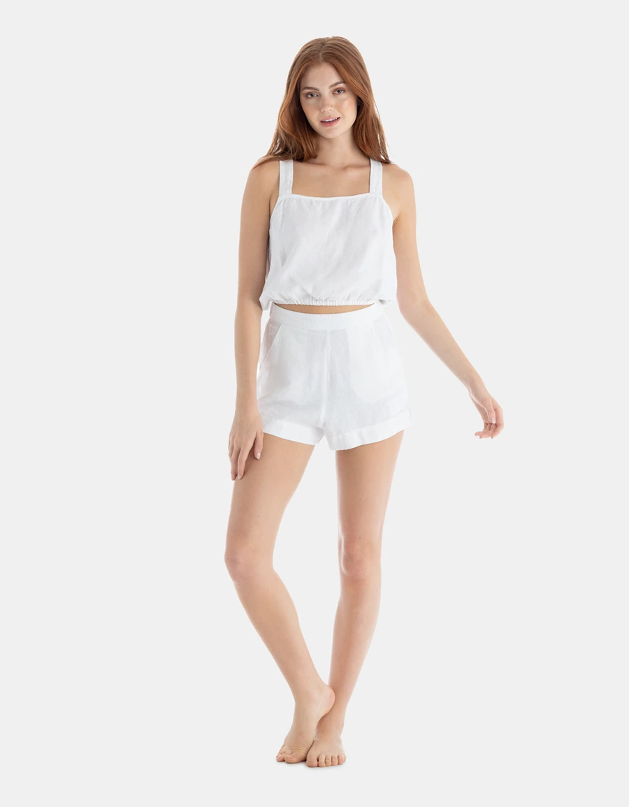 Bexley Crossover Top | White - West of Camden
