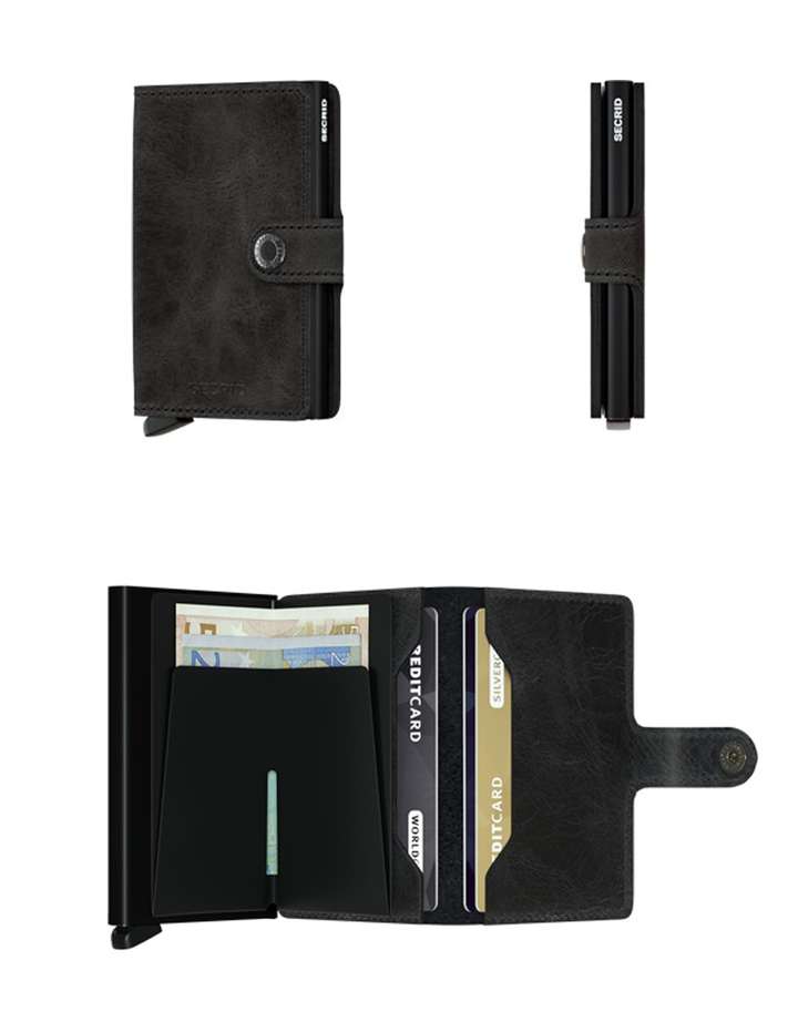 Miniwallet Vintage | Black - West of Camden