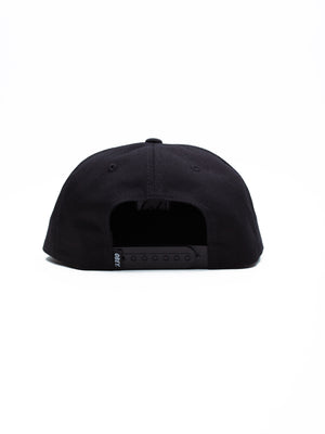 Champion 6 Panel Snapback | Black - West of Camden