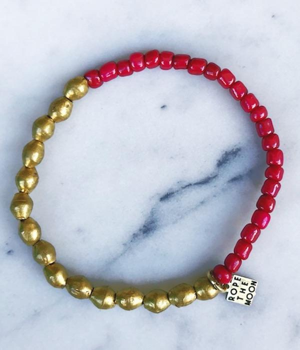Sure Thing Bracelet / Burgundy - West of Camden
