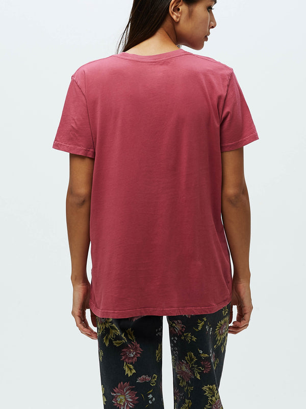 Obey Rose Stem Tee | Deep Rose - West of Camden