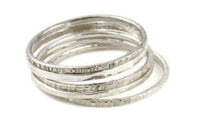 Sterling Silver Paige Modern Stacker - West of Camden
