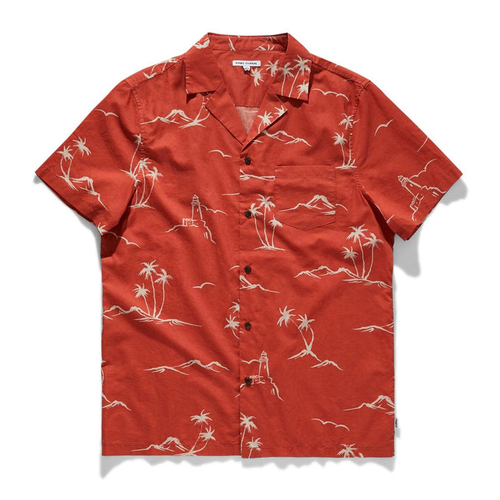 Cape Shirt | Burnt Red - West of Camden
