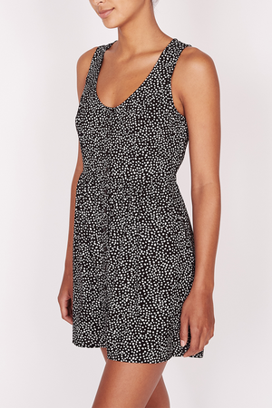 Alma Tank Dress | Black/White - West of Camden