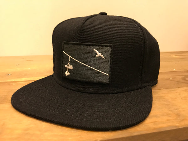 The Wire Premium Hat - Black - West of Camden