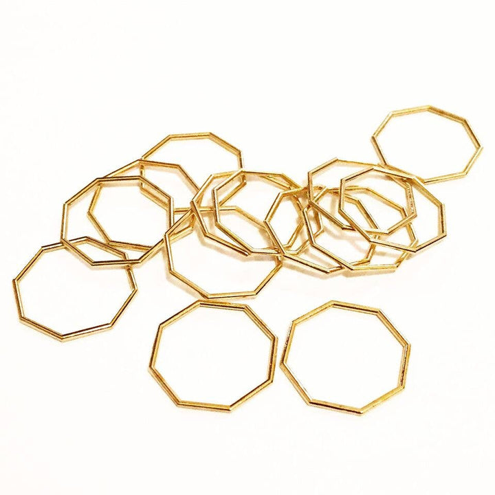 Nash Octagon Ring | Eco Brass - West of Camden