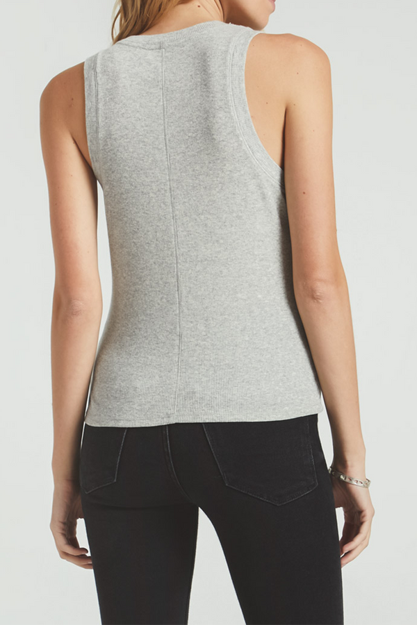 Sirena Rib Tank | Heather Grey